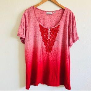 Red ombré shirt